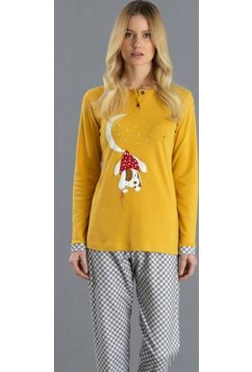 Ayyıldız 2000 Yuvarlak Yakalı Pijama Takımı
