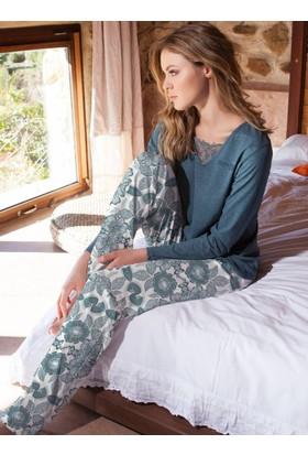 Ayyıldız 50496 Dantel İşlemeli Pijama Takımı