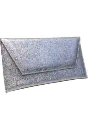 Kf Bayan Abiye Çanta Zarf Model Gümüş