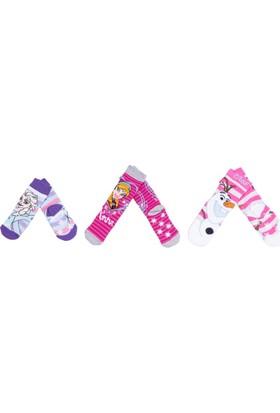 Frozen FZ9578 Çocuk 3'lü Havlu Soket Çorap
