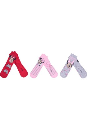 Minnie Mouse MN12414 Çocuk 3'lü Soket Çorap