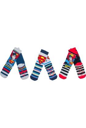 Superman SM9757 Çocuk 3'lü Havlu Soket Çorap
