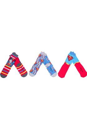 Superman SM12419 Çocuk 3'lü Soket Çorap
