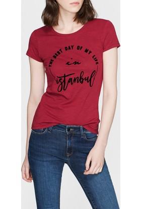 Mavi Bordo Istanbul Tişört