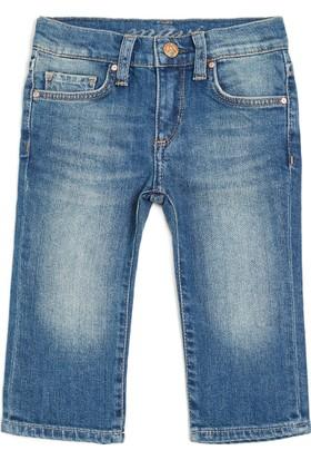 Mavi Kız Çocuk Baby Jean Vintage Jean Pantolon