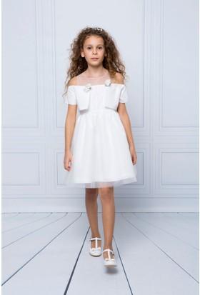 Goose Kız Çocuk Bolerolu Robası Büzgülü Elbise