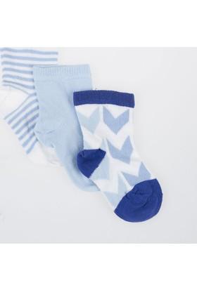 Soobe Erkek Bebek Üçlü Bilek Üstü Çorap