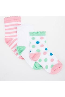 Soobe Kız Çocuk Üçlü Bilek Üstü Çorap