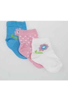 Soobe Kız Bebek Üçlü Bilek Üstü Çorap