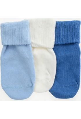 Pixter&Bro Essential Happy Bluebaby Çocuk Üçlü Soket Çorap Set