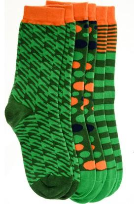 Pixter&Bro Trend Happy Greenboy Çocuk Üçlü Soket Çorap Set