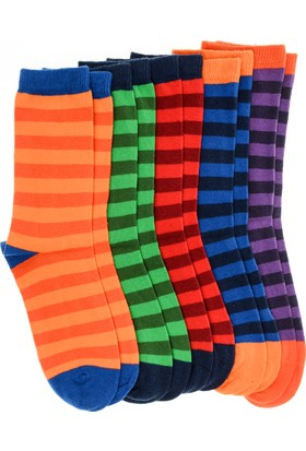 Pixter&Bro Essential Happy Stripeboy Çocuk Beşli Soket Çorap Set