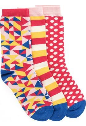 Pixter&Bro Trend Happy Crystalgirl Çocuk Üçlü Soket Çorap Set