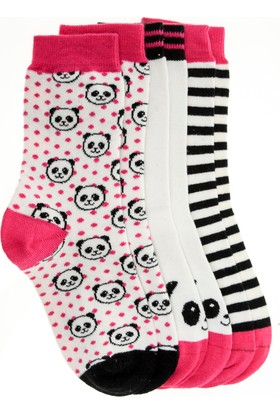 Pixter&Bro Trend Happy Pandagirl Çocuk Üçlü Soket Çorap Set