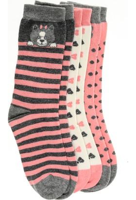 Pixter&Bro Trend Happy Sweetgirl Çocuk Üçlü Soket Çorap Set