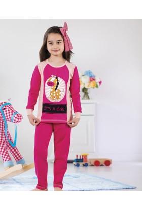 Serra Star Kız Çocuk Pijama Takımı Fuşya