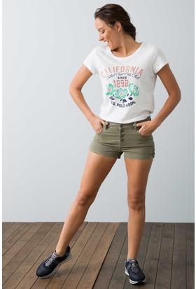 U.S. Polo Assn. Kadın Magg7Y Şort Yeşil