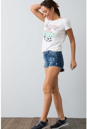 U.S. Polo Assn. Kadın Catre T-Shirt Bej