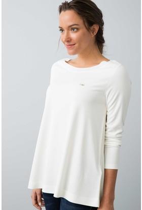 U.S. Polo Assn. Kadın Hatek Sweatshirt Bej