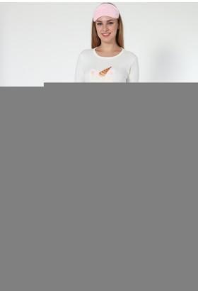 Sendy Sevimli Boynuz Bayan Polar Pijama Takımı