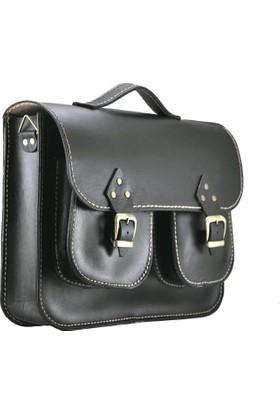 Shaman'S Leather Deri Notebook Çift Cepli Çanta