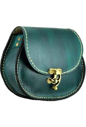 Shaman'S Leather Deri Küçük Oval Çanta