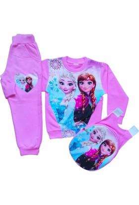 Ek Bebek Prenses Elsa Eşofman Takımı Çantalı