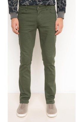 DeFacto Erkek Pedro Ekstra Slim Fit Pantolon Yeşil