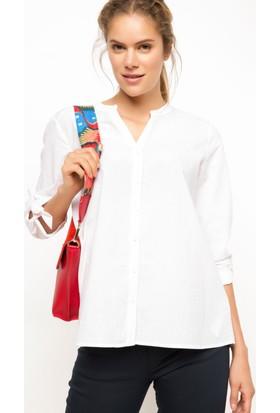 DeFacto Kadın Kolları Bağlamalı Gömlek Pembe