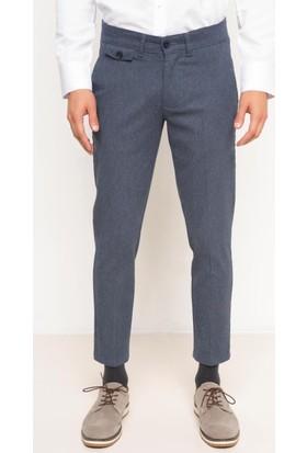 DeFacto Erkek Crop Fit Chino Pantolon Mavi