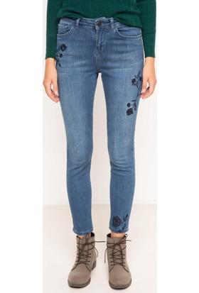 DeFacto Kadın Skinny Denim Pantolon Mavi
