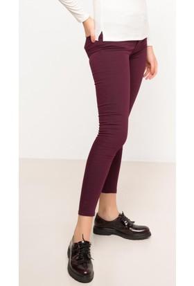 DeFacto Kadın Süper Skinny Pantolon Bordo