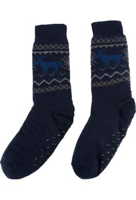 DeFacto Erkek Jakarlı Soket Çorap Lacivert