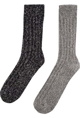 DeFacto Erkek 2'Li Kalın Çorap Gri