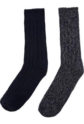 DeFacto Erkek 2'Li Kalın Çorap Lacivert