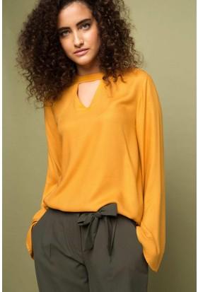 DeFacto Kadın Trend Bluz Sarı