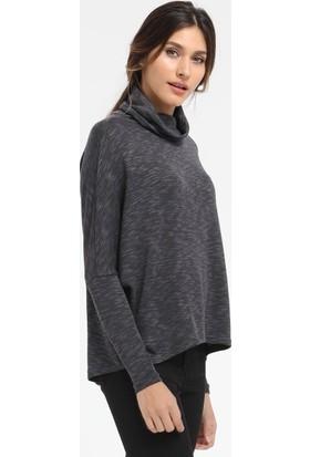 Loft Geniş Balıkçı Yaka Kadın Triko Sweatshirt 2012163