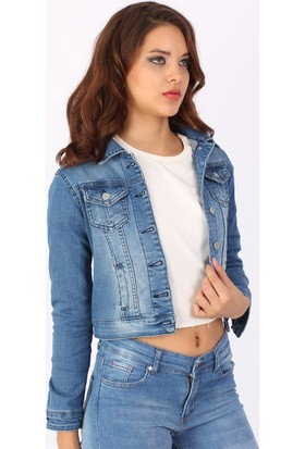 Zdn Jeans Kadın Denim Mavi Ceket M10