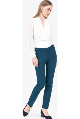 İroni Beli Lastikli Kumaş Pantolon