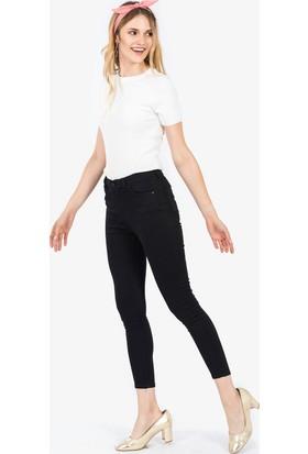 İroni Yüksek Bel Dar Paça Pantolon