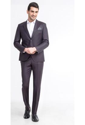 Kiğılı Slim Fit Çizgili Floransa Kalıp Takım Elbise