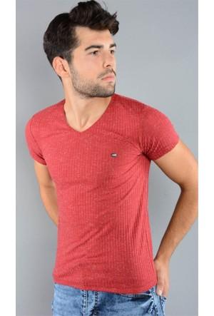 Rodin Hills Bordo Erkek T-Shirt O Yaka Fıtıllı 2055