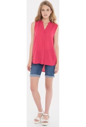 Collezione Kadın Gömlek Kısa Kol Vatra Nar Çiçeği