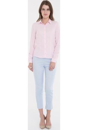 Collezione Kadın Gömlek Uzun Kol Masskk Pembe