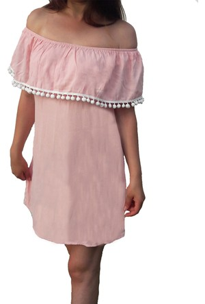 Shecco Babba Kadın Plaj Elbisesi Pembe