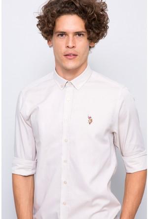 U.S. Polo Assn. Erkek Cedcolor17K Gömlek Bej