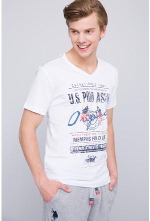 U.S. Polo Assn. Erkek Memphis T-Shirt Beyaz