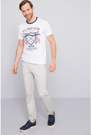 U.S. Polo Assn. Erkek Castle T-Shirt Beyaz