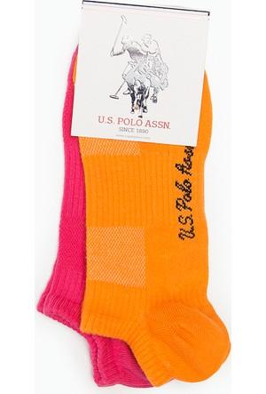 U.S. Polo Assn. Kadın Sport Çorap Pembe