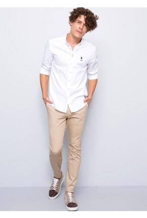 U.S. Polo Assn. Erkek Carl Gömlek Beyaz